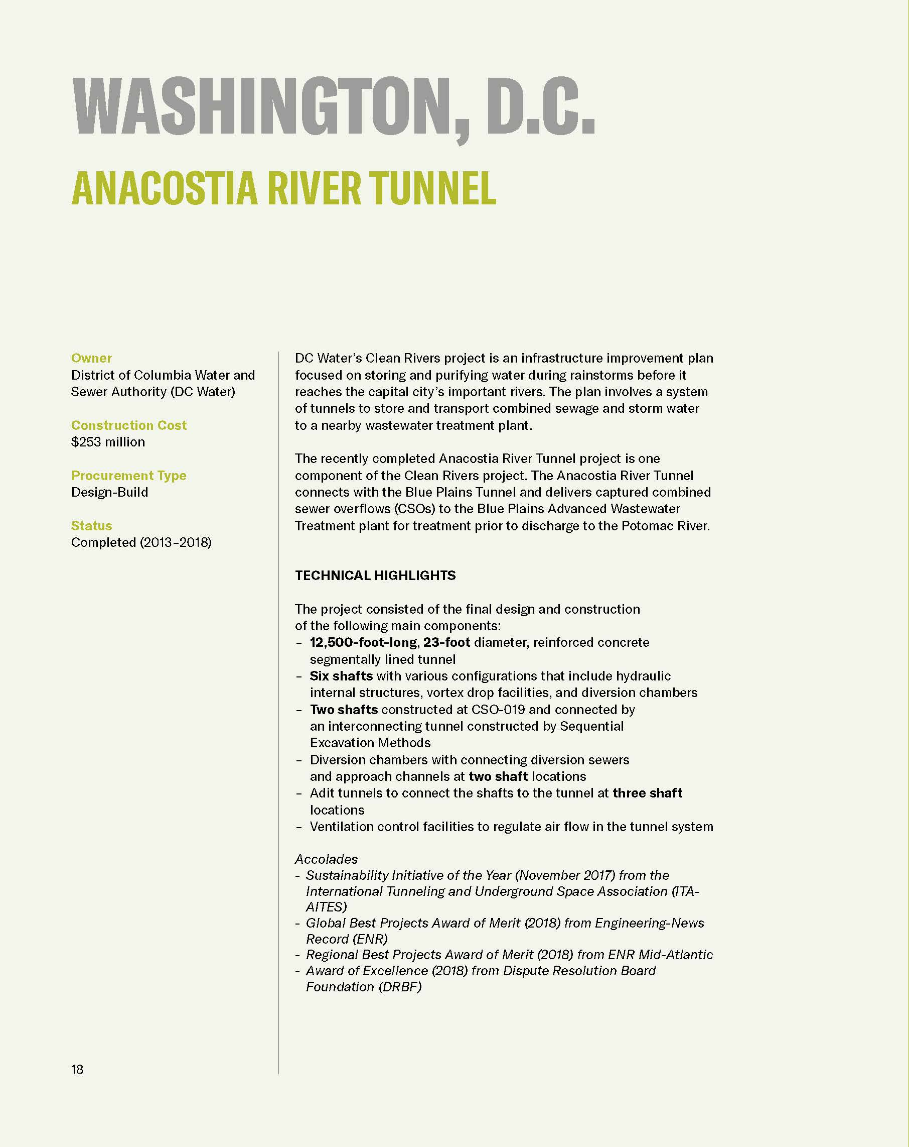 Beneath the Earth: Tunneling Brochure
